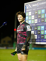 20th December 2020; The Sportsground, Galway, Connacht, Ireland; European Champions Cup Rugby, Connacht versus Bristol Bears; Bristol Bears centre Piers O'Conor speaks to the media after being named the Star of the Match