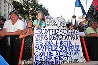 BUENOS AIRES, ARGENTINA, 10 DEZEMBRO 2011 - POSSE CRISTINA KIRCHNER PRESIDENCIA ARGENTINA - Cristina Fernandez de Kirchner é vista em frente a Casa Rosada, sede do governo Argentino. Kirchner assumiu o seu segundo mandato como presidente eleita da Argentina, na tarde deste sábado, em Buenos Aires, capital da Argentina. Aos 58 anos de idade, Cristina é a primeira mulher a ser reeleita presidente na história da América Latina. (FOTO: JUANI RONCORONI - NEWS FREE).