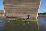 BAGHDAD, IRAQ: Haider Nawzad practices rowing on the Tigris...Iraq is fielding a rowing team for the London 2012 Olympics...Photo by Kamaran Najm/Metrography