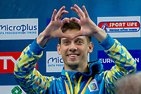 Iliya KVASHA UKR Silver Medal<br /> 3m. Men Springboard Podium<br /> LEN European Diving Championships 2017<br /> Sport Center LIKO, Kiev UKR<br /> Jun 12 - 18, 2017<br /> Day05 16-06-2017<br /> Photo © Giorgio Scala/Deepbluemedia/Insidefoto