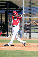 Sandro Fabian participates in the Dominican Prospect League 2014 Louisville Slugger Tournament at the New York Yankees academy in Boca Chica, Dominican Republic on January 20-21, 2014 (Bill Mitchell)