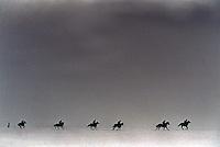 Pix:Michael Steele/SWpix...Horse Racing. Horse Gallops, Middleham, 1995...COPYRIGHT PICTURE>>SIMON WILKINSON..Horse Gallops, Middleham.