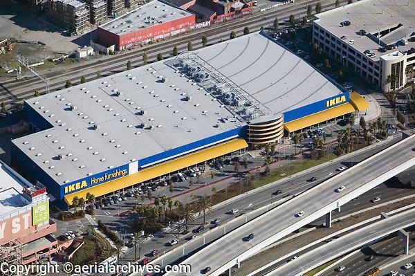 aerial photograph of Ikea, Emeryville, Alameda, California