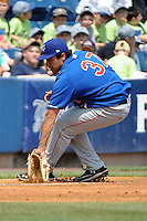 Auburn Doubledays infielder Anthony Rendon (37) during game against the Staten Island Yankees at Richmond County Bank Ballpark at St.George on August 2, 2012 in Staten Island, NY.  Auburn defeated Staten Island 11-3.  Tomasso DeRosa/Four Seam Images