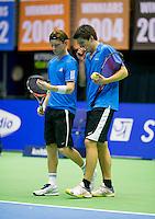 17-12-13,Netherlands, Rotterdam,  Topsportcentrum, Tennis Masters, ,  Sander Arends and David de Goede    <br /> Photo: Henk Koster