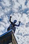 Staty på taket till Artipelag. Värmdö kommun.