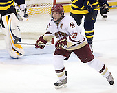 Ben Smith (BC - 12) - The Boston College Eagles defeated the Merrimack College Warriors 4-3 on Friday, October 30, 2009, at Conte Forum in Chestnut Hill, Massachusetts.