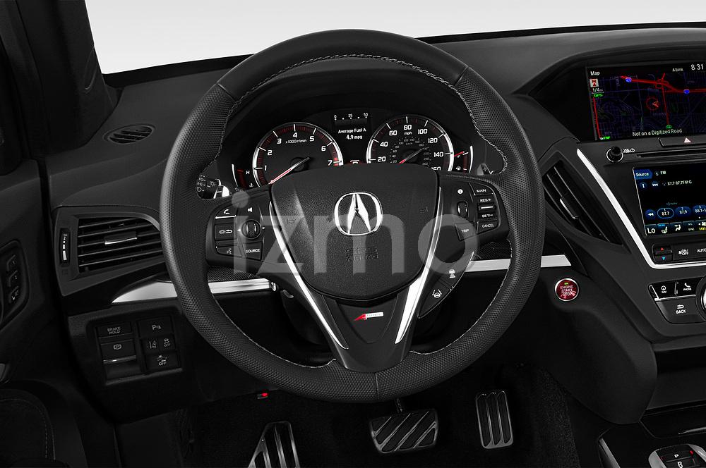 Steering wheel view of a 2019 Acura MDX A Spec 5 Door SUV