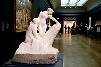 NEW YORK, NEW YORK - MARCH 19: A sculpture is pictured at The MET Museum on March 19, 2021 in New York. The Met Museum is considering selling some of its works to support itself after claming that the pandemic has caused a loss of revenue of $150 million in about 18 months. (Photo by John Smith/VIEWpress)