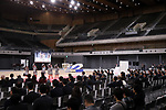February 2, 2020, Tokyo, Japan - Japan's girls only pop group AKB48 Team 8 members perform to celebrate the opening of the Ariake Arena in Tokyo on Sunday, February 2, 2020. Ariake Arena, 15,000 seats multiple purpose hall will be used for Olympic volleyball and Paralympic wheelchair basketball events.    (Photo by Yoshio Tsunoda/AFLO)