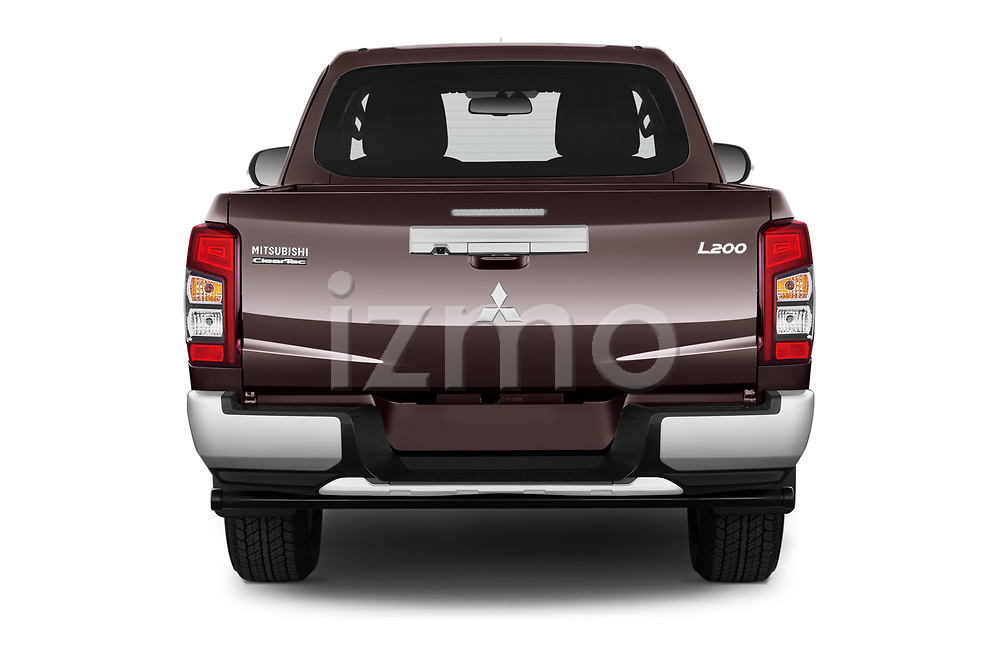Straight rear view of 2020 Mitsubishi L200 Instyle 4 Door Pick-up Rear View  stock images