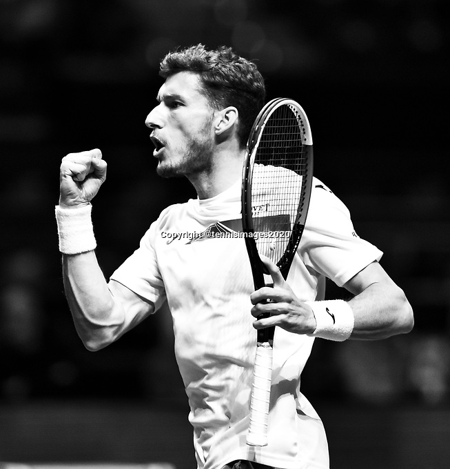 Rotterdam, The Netherlands, 14 Februari 2020, ABNAMRO World Tennis Tournament, Ahoy, Jannik Sinner (ITA), Pablo Carreno Busta (ESP).<br /> Photo: www.tennisimages.com