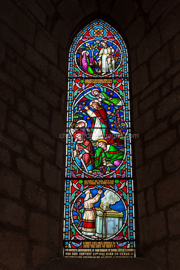 Lanercost, Priory, Cumbria, England, UK.  Stained Glass Window, 19th. Century, in the Anglican Church of Mary Magdalene.