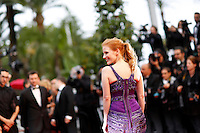 Jessica Chastain .Cannes 22/5/2013 .66mo Festival del Cinema di Cannes 2013 .Foto Panoramic / Insidefoto .ITALY ONLY