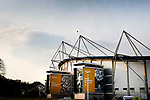 Exterior view of the KCOM Stadium. Hull 2 Sunderland 2, League One 20th April 2021.