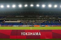YOKOHAMA, JAPAN - JULY 30: The USWNT and the Netherlands line up before a game between Netherlands and USWNT at International Stadium Yokohama on July 30, 2021 in Yokohama, Japan.