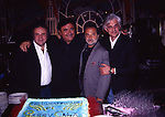 """JERRY CALA' CON I GATTI DI VICOLO MIRACOLI <br /> FESTA PER PRESENTAZIONE DEL FILM """"GLI INAFFIDABILI"""" 1997"""