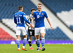 St Mirren v St Johnstone…09.05.21  Scottish Cup Semi-Final Hampden Park <br />All smiles on the face of saints captain Jason Kerr as he celebrates at full time. <br />Picture by Graeme Hart.<br />Copyright Perthshire Picture Agency<br />Tel: 01738 623350  Mobile: 07990 594431
