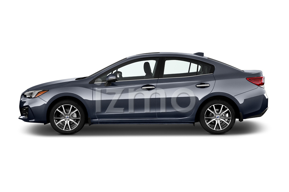 Car Driver side profile view of a 2018 Subaru Impreza 2.0i-Limited-CVT-PZEV 4 Door Sedan Side View