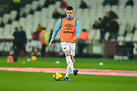 Declan Rice of West Ham United warms up  during West Ham United vs Fulham, Premier League Football at The London Stadium on 22nd February 2019
