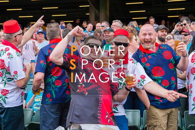 Madness' performanceduring the HSBC Hong Kong Rugby Sevens 2017 on 08 April 2017 in Hong Kong Stadium, Hong Kong, China. Photo by Marcio Rodrigo Machado / Power Sport Images