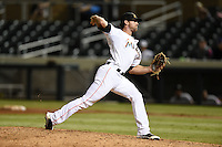 Salt River Rafters pitcher Reid Redman (46) during an Arizona Fall League game against the Peoria Javelinas on October 17, 2014 at Salt River Fields at Talking Stick in Scottsdale, Arizona.  The game ended in a 3-3 tie.  (Mike Janes/Four Seam Images)