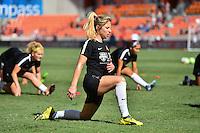 Houston, TX - Sunday Oct. 09, 2016: McCall Zerboni prior to a National Women's Soccer League (NWSL) Championship match between the Washington Spirit and the Western New York Flash at BBVA Compass Stadium.