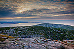 A Cadillac Mountain sunrise in Acadia National Park, Downeast, ME, USA
