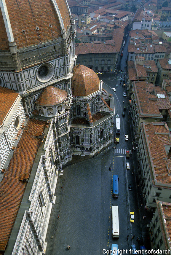 Florence: Duomo from Giotto Tower. Photo '83.