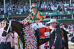 May 1 2015: Lovely Maria with Kerwin Clark win the 141st running of the Grade 1 Longines Kentucky Oaks for 3-year old fillies, going 1 1/8 mile at Churchill Downs.  Trainer J. Larry Jones. Owner Brereton C. Jones. Sue Kawczynski/ESW/CSM