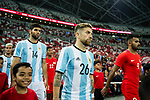 Alejandro Gomez of Argentina getting into the field during the International Test match between Argentina and Singapore at National Stadium on June 13, 2017 in Singapore. Photo by Marcio Rodrigo Machado / Power Sport Images
