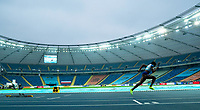 1st May 2021; Silesian Stadium, Chorzow, Poland; World Athletics Relays 2021. Day 1; Ami Pipi takes the bend in the ladies 4 x 400 heats for Great Britain