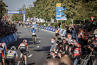Elisa Balsamo (ITA/Valcar-Travel and Service) beats Marianne Vos (NED/Jumbo Visma) on the finish<br /> <br /> Women Elite – Road Race (WC)<br /> Race from Antwerp to Leuven (157.7km)<br /> <br /> ©kramon
