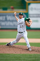 Fort Wayne TinCaps relief pitcher Blake Rogers (31) delivers a pitch during a game against the Wisconsin Timber Rattlers on May 10, 2017 at Parkview Field in Fort Wayne, Indiana.  Fort Wayne defeated Wisconsin 3-2.  (Mike Janes/Four Seam Images)