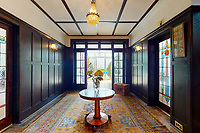 BNPS.co.uk (01202 558833)<br /> Pic: Savills/BNPS<br /> <br /> Pictured: The hallway.<br /> <br /> A clifftop home with breathtaking panoramic sea views is on the market for £3.25m.<br /> <br /> Sandpierre also has a private swimming pool and a viewing platform overlooking the beach with 180-degree views of the water. <br /> <br /> The six-bedroom family home is on the Bournemouth/Poole coastline in Dorset and is being sold for the first time in 25 years.<br /> <br /> The house was built in the 1930s and is in a quiet cul-de-sac in Branksome Dene Chine - midway between the town centres of Bournemouth and Poole.