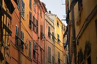 - Portovenere (La Spezia), inner alley..- Portovenere (La Spezia), vicolo interno