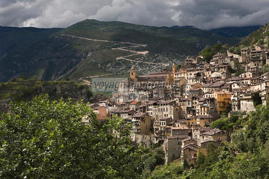 Europe/France/Provence-Alpes-Côtes d'Azur/06/Alpes-Maritimes/Alpes-Maritimes/Arrière Pays Niçois/ Saorge: le village perché