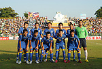 Players of Thailand Team line up and pose for a photo prior to their AFF Suzuki Cup 2008 Group B match between Thailand and Malaysia at Surakul Stadium on 10 December 2008, in Phuket, Thailand. Photo by Stringer / Lagardere Sports