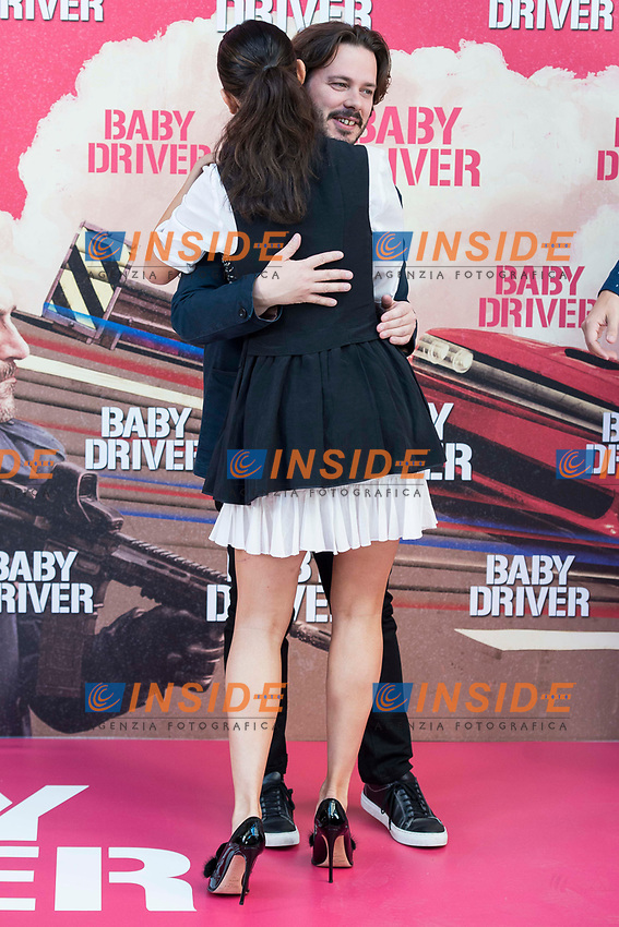 Mexican actress Eiza González and director of the film, Edgar Wright attends to the presentation of the film 'Baby Driver' at Villa Magna Hotel in Madrid, June 23, 2017. Spain.<br /> (ALTERPHOTOS/BorjaB.Hojas/Insidefoto)<br /> Foto ALTERPHOTOS/BorjaB.Hojas/Insidefoto