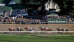 LOUISVILLE, KY - MAY 06: The field in the back stretch during the Kentucky Derby on Kentucky Derby Day at Churchill Downs on May 6, 2017 in Louisville, Kentucky. Always Dreaming #5, ridden by John Velazquez, won the race. (Photo by Jon Durr/Eclipse Sportswire/Getty Images)