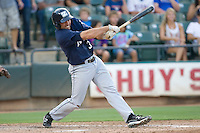 New Orleans Zephyrs designated hitter Mike Cervenak #39 swings during the game against the Round Rock Express at the Dell Diamond on July 21, 2011 in Round Rock, Texas.  New Orleans defeated Round Rock 7-4.  (Andrew Woolley/Four Seam Images)