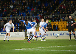 St Johnstone v Hibs..28.11.12      SPL.Nigel Hasselbaink misses his penalty kick.Picture by Graeme Hart..Copyright Perthshire Picture Agency.Tel: 01738 623350  Mobile: 07990 594431