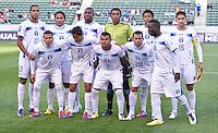 CARSON, CA - March 27, 2012: Honduras starting line up for the Honduras vs Trinidad & Tobago match at the Home Depot Center in Carson, California. Final score Honduras 2, Trinidad & Tobago 0.