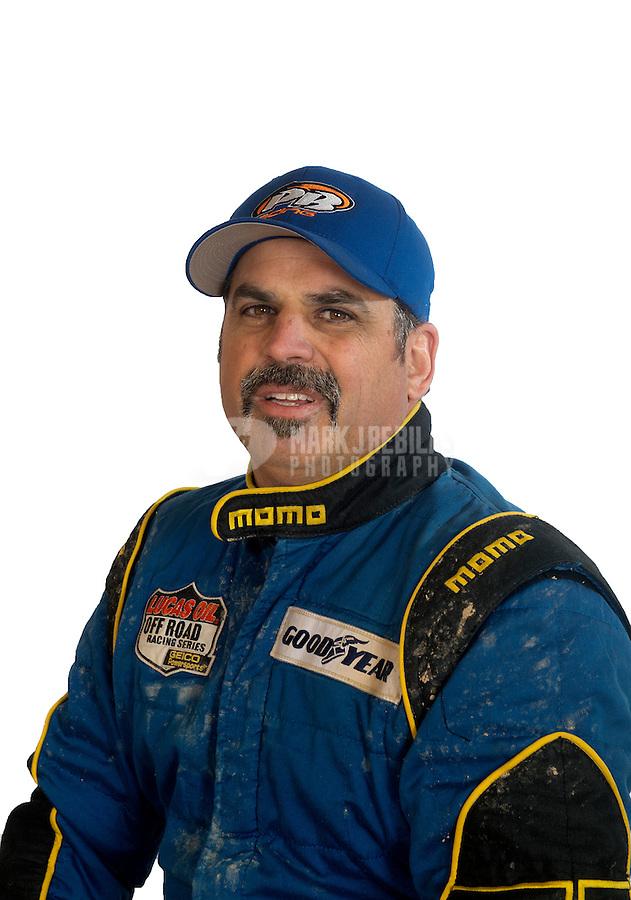 Mar. 18, 2011; Chandler, AZ, USA;  LOORRS driver Phil Bollman poses for a portrait at Firebird International Raceway. Mandatory Credit: Mark J. Rebilas
