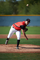 Sean Schneeberg (20) of Rocklin High School in Rocklin, California during the Baseball Factory All-America Pre-Season Tournament, powered by Under Armour, on January 14, 2018 at Sloan Park Complex in Mesa, Arizona.  (Art Foxall/Four Seam Images)