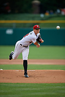 Indianapolis Indians pitcher Mitch Keller (18) during an International League game against the Syracuse Mets on July 16, 2019 at Victory Field in Indianapolis, Indiana.  Syracuse defeated Indianapolis 5-2  (Mike Janes/Four Seam Images)