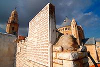 Gerusalemme / Israele.Veduta dal tetto della Sala del Cenacolo..Foto Livio Senigalliesi..Jerusalem / Israel.View from the roof of Room of the Last Supper..Photo Livio Senigalliesi