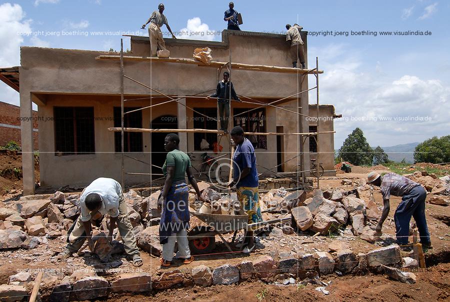 RWANDA, Byumba , construction of new house