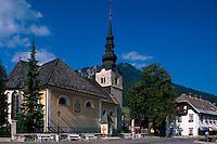 Triglav-Gebirge, Kirche in Kraniska Gora, Slowenien