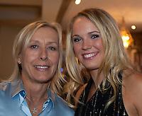 31-05-11, Tennis, France, Paris, Roland Garros , ITF Championsdinner Caroline Wozniacki Martina Navratilova